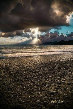 Dramatic photo of winter #Oludeniz beach in #Turkey