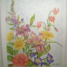 Flowers Of Summer a Floral Watercolor Painting | Angelas_Adornments - Painting on ArtFire