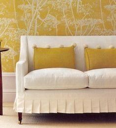 I want to make a ruffled slipcover like this one day...