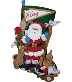 michaels stocking this one was very detailed yet very cool when it was finished santa stockingchristmas stocking kitsfelt - Felt Christmas Stocking Kits Michaels