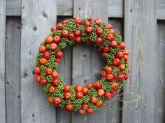 #Bloemschikken #krans Malus sier appeltjes http://www.pompoenzaden-decoshop.nl/
