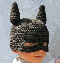 Super Hero Mask Beanie... must learn how to make it... haha