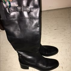 Black leather boots bandolino Great condition only worn once Bandolino Shoes