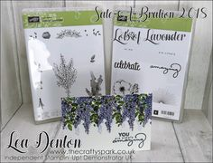 I did with the Stampin' Up! Sale-A-Bration Lots of Lavender Stamp Set... wisteria! You can see it now can't you... turn the lavender bunch upside down, stamp it a few times in Wisteria Wonder Ink and you have wisteria :)