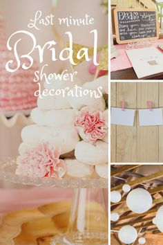 10 last minute bridal shower decoration ideas 10 last minute bridal