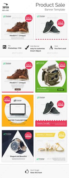 Product Sale Web Banner Template PSD #design #ads Download: http://graphicriver.net/item/product-sale-banner/13093293?ref=ksioks