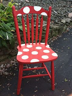 Polka Dot Chair   D.I.Y.S. I want this for an authors chair!!