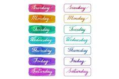 Handwritten days of the week by Sunshine Art Shop on @creativemarket