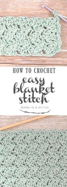 How To Crochet the Blanket Stitch via This is a super easy crochet stitch and there's a full, free pattern and video tutorial! patterns free blanket How To Crochet the Blanket Stitch Crochet Afghans, Crochet Stitches For Blankets, Crochet For Beginners Blanket, Crochet Stitches Patterns, Baby Blanket Crochet, Knitting Patterns, Crochet Pillow, Knitting Ideas, Knitting Stitches