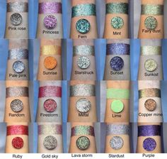 Pressed glitter eyeshadow bundle choose any 6 shades Pressed Glitter Eyeshadow Palette, Loose Glitter Eyeshadow, Silver Eyeshadow, Glitter Liner, Pigment Eyeshadow, Eyeshadow Makeup, Gold Glitter, Henna Designs, Drawing Faces