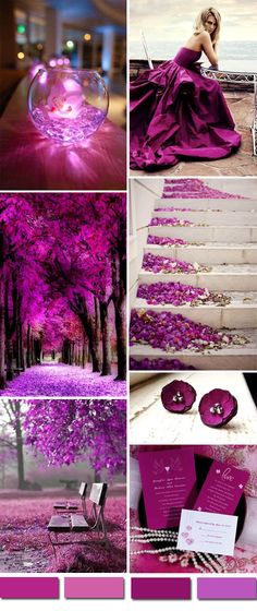 radiant orchid purple wedding color ideas and wedding invitations