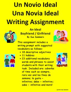 Writing Prompt In Spanish - Ideal Boyfriend or Girlfriend from Sue Summers on TeachersNotebook.com (1 page)