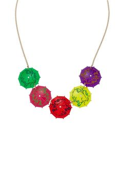 Tatty Devine have re-released their Cocktail Umbrella Necklace... and one of them is now mine!