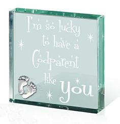 #Godparents #Gifts and Cards : Godparent Paperweight