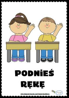 Zasady klasowe-  Podnieś rękę Learn Polish, Special Education, Montessori, Behavior, Children, Kids, Kindergarten, Family Guy, Clip Art