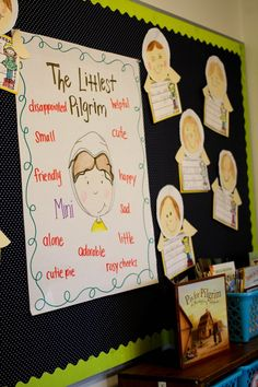 """Using the book, """"The Littlest Pilgrim"""" to talk about how characters can change throughout a story. Such a sweet story!"""