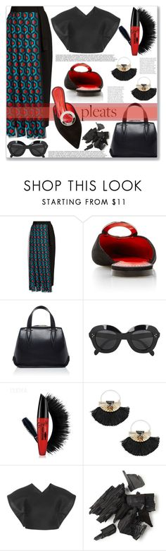 """""""Now you see them"""" by mood-chic ❤ liked on Polyvore featuring Delpozo, Proenza Schouler, CÉLINE, Jenny Packham and pleats"""