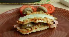Receta de filetes de lomo rellenos de beicón y champiñones con salsa de queso azul
