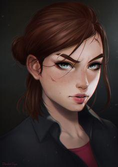 Ellie (The Last of Us 2) by dandonfuga, Digital Painting, Fan Art, Gaming, Portrait, Inspirational Art