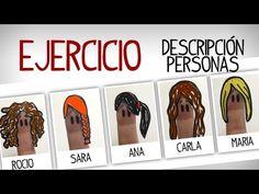 Ejercicio describir personas en español: quien es quien - YouTube