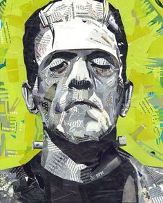 Frankie_collage #collage #handmadecollage #collageart #collageartwork #frankenstein #handcut #artwork #classicfilm  #filmart #film…