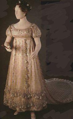 Weddings During the Regency Era - Jane Austen Centre Regency Wedding Dress, Regency Dress, Regency Era, Wedding Dresses, Vintage Outfits, Vintage Gowns, Victorian Dresses, Vintage Clothing, 1800s Clothing