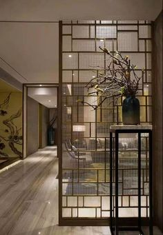 80 Stunning Privacy Screen Design for Modern Home Home, Modern Interior, House Design, Screen Design, Glass Room Divider, Room Partition Designs, Living Room Partition Design, House Interior, Glass Room
