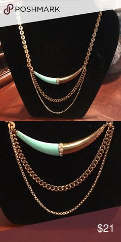 Silpada gold tone and turquoise necklace NWT NWT Silpada Jewelry Necklaces