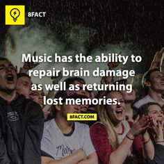 "Music has the ability to repair brain damage as well as returning lost memories.   Makes me think of how mom smiles when she is singing ""the oldies""."