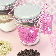Cookie Mix Mini Mason Jar Favors ~ Easy Recipe & Tutorial