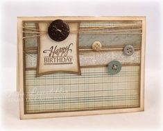Masculine Birthday Card created by Tosha Leyendekker using JustRite Stamps