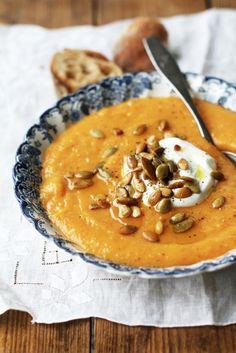 Mausteinen kurpitsakeitto // Spicy Pumpkin Soup  Food & Style Tiina Garvey, Fanni & Kaneli Photo Tiina Garvey www.maku.fi