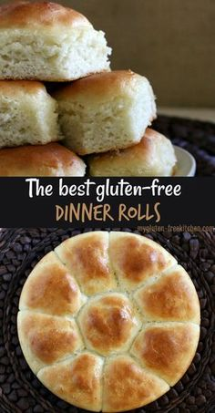 Gluten-free Pull-Apart Dinner Rolls Gluten-free Dinner Rolls that taste like grandma's holiday rolls! We enjoy these gluten-free rolls at the holidays and year-round! - We think these are the best gluten-free dinner rolls! Our go-to recipe! Dairy Free Options, Dairy Free Recipes, Best Gluten Free Desserts, Gluten Free Bread Recipe Easy, Gluten Free Hamburger Buns, Gluten Free Vegetarian Recipes, Wheat Free Recipes, Gf Recipes, Christmas Dinner Recipes Gluten Free