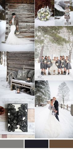 stylish grey winter wedding color inspiration