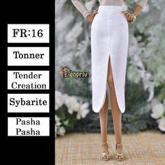 1877106230 ELENPRIV ivory silk midi skirt with lining {Choose size} Fashion royalty  FR:16