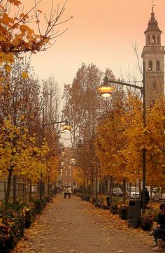 Saronno, Italy photo via condenast Autumn Aesthetic, Travel Aesthetic, Nature Landscape, Autumn Scenes, Autumn Cozy, Fall Wallpaper, All Nature, Autumn Photography, Fall Pictures
