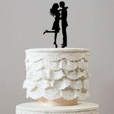 Beautiful Cake Topper for Wedding /Engagement (Romantic Bride &Groom) – CHARMERRY