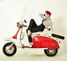 Lady and the Lambretta (or Vamp on a Vespa, only it's not ... )
