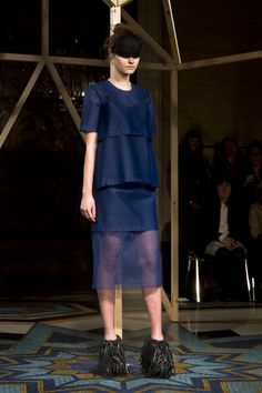 Phoebe English AW13 Runway, Photography by Max Barnett #LFW