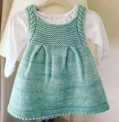 New Ideas crochet baby girl vest kids clothes Baby Knitting Patterns, Knitting For Kids, Baby Patterns, Dress Patterns, Knit Baby Dress, Knitted Baby Clothes, Baby Girl Vest, Vest Pattern, Crochet Baby Dresses
