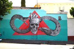 Arte urbano en Querétaro, México. Alexis Diaz #streetart