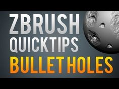 In the first of the Zbrush quick tips I cover creating bulletholes in objects using custom 'decal' brushes and alphas. I also cover creating your own brush i...