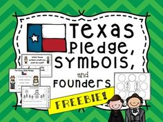 """This is a sample of some of the activities taken from my 160+ page Texas packet.  If you love it, purchase the entire packet HERE:  Texas Symbols and Sentence Scrambles (Plus Austin and Navarro)  The free sample includes: -Texas Pledge poster and Cut/Paste Activity -One page of """"Read it, Write it, Paste it"""" Sentence scramble """"My state flower is the bluebonnet."""" -Blank Venn Diagram and Double Bubble map for Stephen F."""