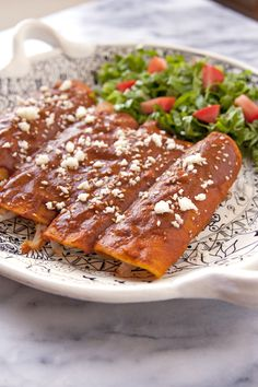 Chicken Mole Enchiladas - This simple flavorful mole recipe gives you the soul of traditional mole without all the hard work.