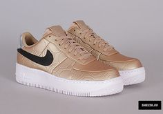Nike Air Force 1 Low Upstep Gold 874141-900 | SneakerNews.com