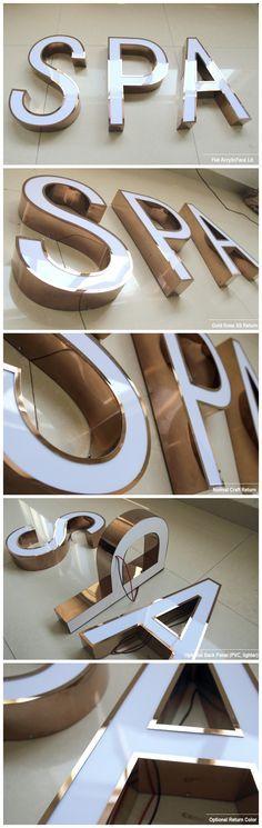 Letreiros de aço inox. Venha conferir mais em nosso site. www.portalgrupobetel.com