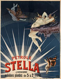 Pétrole Stella, advertising poster, 1897