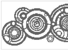 The Doctor's Name circular gallifreyan cross-stitch #DoctorWho