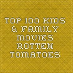 Top 100 Kids & Family Movies - Rotten Tomatoes