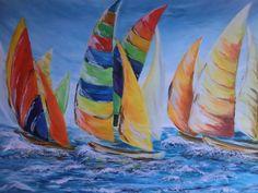 Acrylmalerei - Sailing - ein Designerstück von failte2013 bei DaWanda